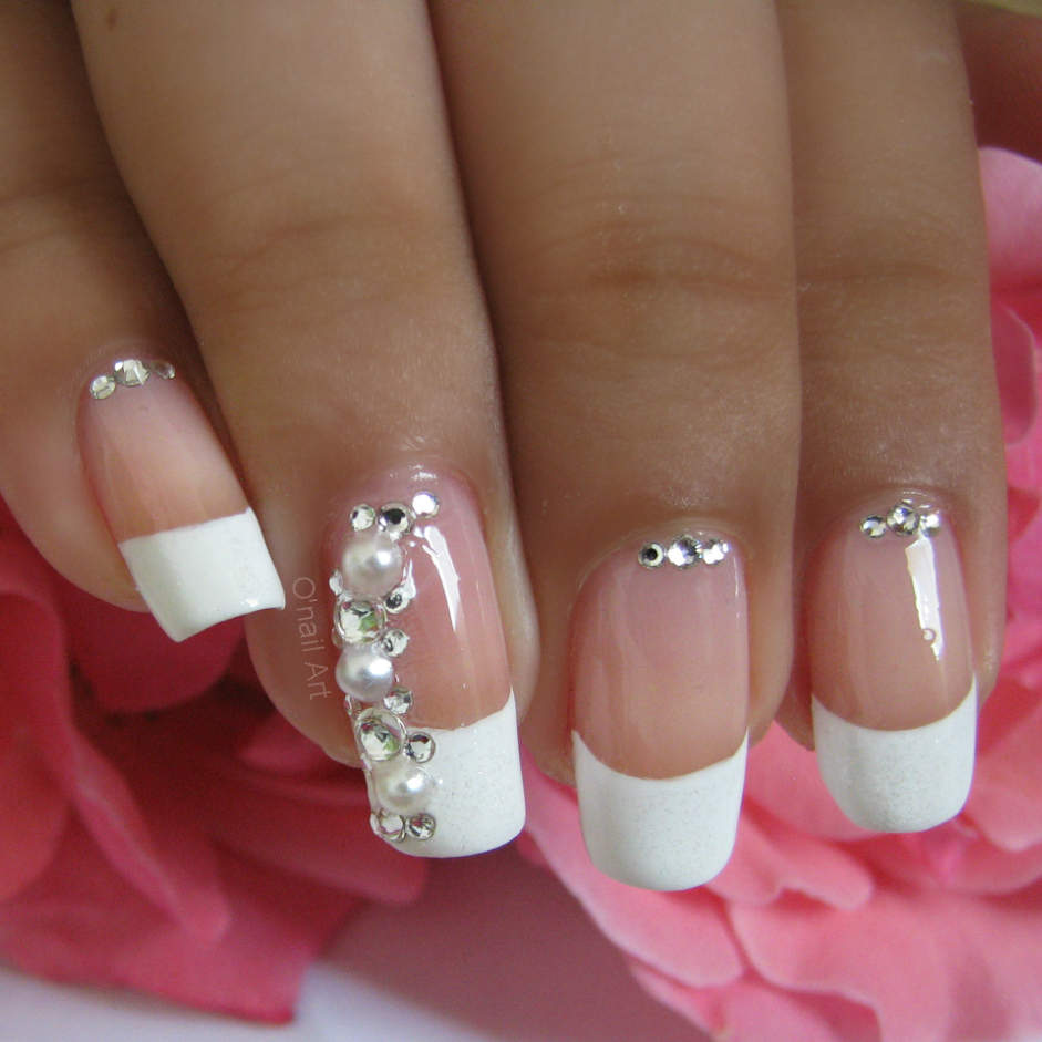 Ongles mariage rose - French manucure mariage ...