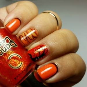 Nail Art Watermarbling d'Halloween!