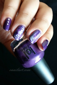 """Nail art marble spiral on """"Purple Lounge"""", """"Elixir"""" and """" Mauve givré"""" LOL by BYS maquillage"""