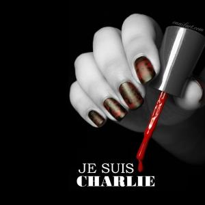 Nail Art Je suis Charlie #jesuischarlie
