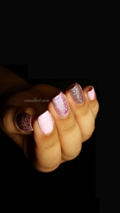 Nail art stamping monochrome rose - Pink monochrom stamp Nails
